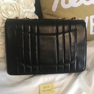 02083f0e748d CHANEL Bags | Vintage Black Vertical Stripe Bag Ghw | Poshmark